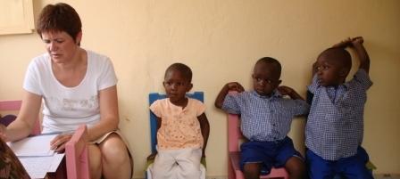 Dépistage dans une école au Bénin